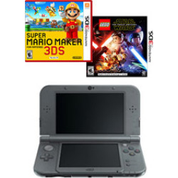 nintendo new 3ds xl black blast from the past creators bundle game -