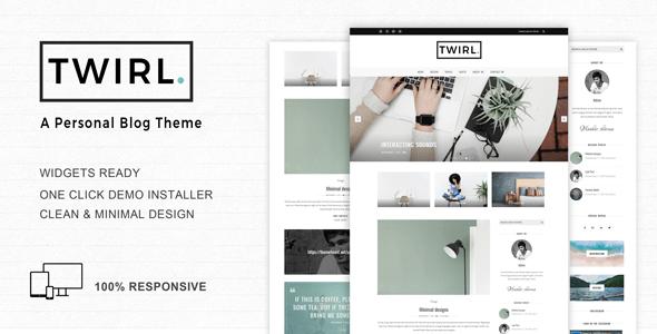 Twirl – A Responsive WordPress Blog Theme