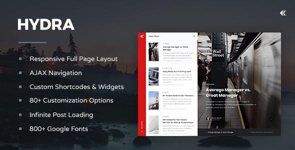 Hydra – Responsive WordPress Blog Theme