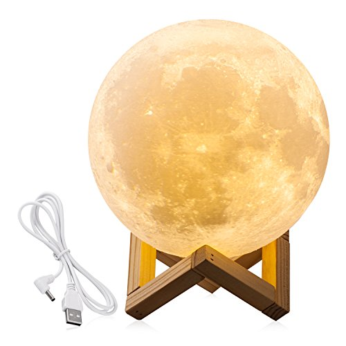 71inchs cpla lighting night light led 3d printing moon lamp lunar lamp warm -