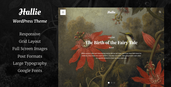 Hallie – WordPress Theme for Writers