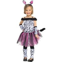 Toddler Costume Zebra Toddler costume 3t-4t, Toddler Girl's, Size: 3T/4T, Multi-Colored
