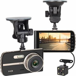 """Dash cam,NEX FHD 1080P 4"""" LCD, 4-Lane Wide-Angle View Lens, Dashboard Camera Recorder with G-Sensor, Loop Recording, Night Mode, No Wifi or APP"""