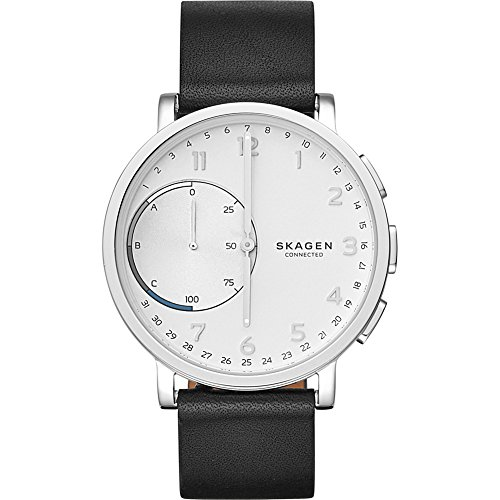 Skagen Hagen Connected Black Leather Hybrid Smartwatch