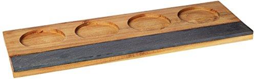 Rustic Farmhouse Acacia Wine Flight Board by Twine – (Wooden Wine Tasting Board)