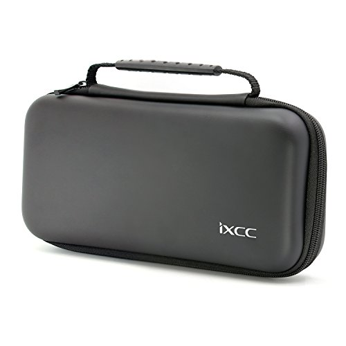 Nintendo Switch Case, iXCC Hard Shell Travel Carrying Protective Storage Bag for Nintendo Switch – Black