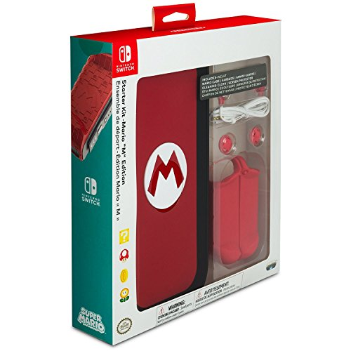 "PDP Nintendo Switch Starter Kit – Mario ""M"" Edition – Nintendo Switch"