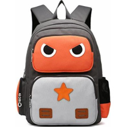 ArcEnCiel Kid's Backpack (Orange and Grey)