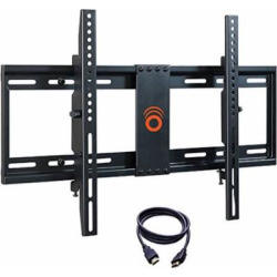ECHOGEAR Tilting Low Profile TV Wall Mount Bracket for 32-70 inch TVs – Up to 15 Degrees of Tilt for LED LCD OLED and Plasma Flat Screen TVs with VESA patterns up to 600 x 400 – EGLT1-BK