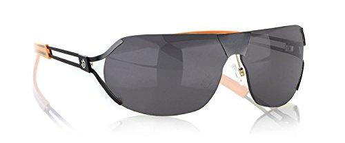 Gunnar Optiks DES-05107Z Steel Series Desmo Semi-Rimless Advanced Outdoor Glasses with Grey Tint Lens, Onyx/Orange Frame Finish