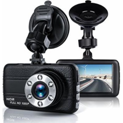 Bekhic Dash Camera for Cars with Full HD 1080P, 170 Degree Super Wide Angle Cameras, 3.0″ TFT Display (Black)