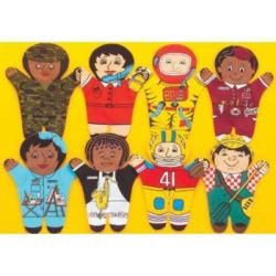 Dexter Educational Toys DEX840W Career 8 Piece Puppet Set – Caucasian