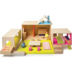 Manhattan Toy MiO Playing Eating Sleeping Working + 2 People Modular Building Set