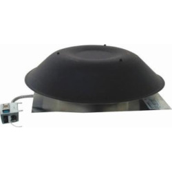 Ll Building Products Black Roof Mount Power Vent PR1DBL by LL Building Products