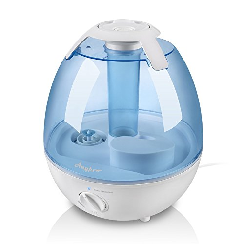 Ultrasonic Cool Mist Humidifier – Anypro Mist Humidifiers for Bedroom Ultra Quiet Air Humidifiers with 6 Optional Night Lights Multi Mist Modes Cool Mist Humidifiers for Baby Home, Filter Free (3.5L)
