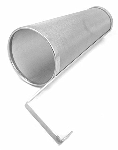 Gooday Multipurpose Stainless Steel Cartridge Hop Spider Beer Hops Filter 300 Micron,17.9 x 5.9 x 3.94 inches