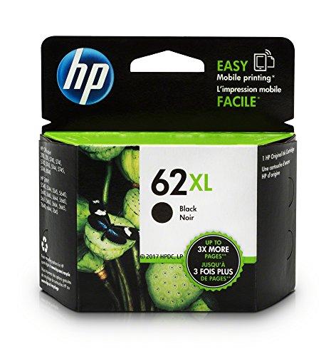 HP 62XL Black High Yield Original Ink Cartridge For HP ENVY 5540, 5643, 5542, 5544, 5545, 5640, 5642, 5660, 5665, 7640, 7645, 8000, HP Officejet 5740, 5741, 5742, 5743, 5744, 5745, 5746, 8040