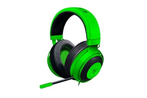 Razer Kraken Pro V2 – Oval Ear Cushions – Analog Gaming Headset for PC, Xbox One, Playstation 4, and Nintendo Switch – Green