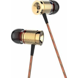 GranVela X53M All Metal Noise-isolating Magnetic Earphones with Microphone for iPhone, Android, and more – Gold