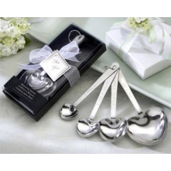 love beyond measure heart shaped measuring spoons in gift box set of 12 -