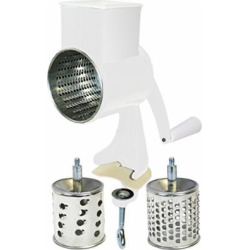 reston lloyd multi purpose grater with 3 stainless steel grating barrels -