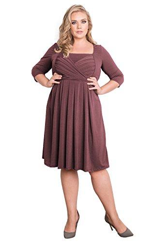 IGIGI Womens Plus Size 3/4 Sleeve Classic Designer Cocktail Dress – Maddy Rose 26/28