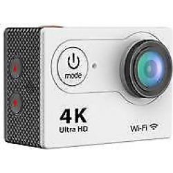 4K Waterproof 12MP Ultra HD Action Camera with Wi-Fi, 170deg. A+ HD Wide-Angle Lens, 1920×1080, 10fps, H.264, MPEG, Silver