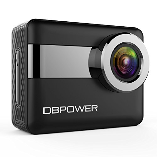 DBPOWER N6 4K Touchscreen Action Camera, 2.31″ LCD Touchscreen 20MP Sony Image Sensor 170° Wide-Angle Waterproof WiFi Sports Camera, 2 Batteries included in Accessories Kit