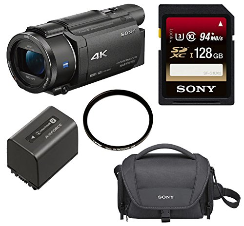 Sony FDR-AX53 UHD 4K Handycam Camcorder (Extra NPFV70 Bundle)