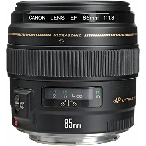 Canon EF 85mm f/1.8 USM Medium Telephoto Lens for Canon SLR Cameras – Fixed