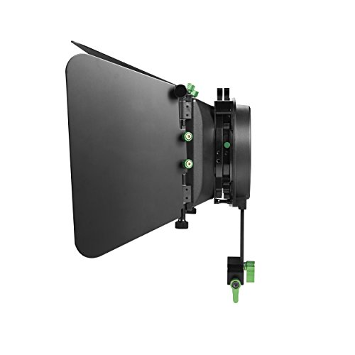 IMORDEN Aluminum M3 Matte box for DSLR and Video Camera Shoulder Support Rig M dp500 with Detachable Blades for 15mm Aluminum Rods(Adjustable height:up to 70mm)