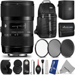 Sigma 210101 18-35mm f/1.8 DC HSM Lens for CANON DSLR Cameras w/ Advanced Photo and Travel Bundle