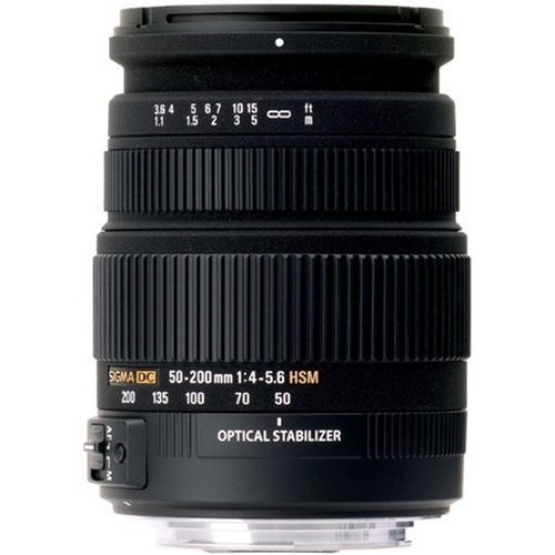 Sigma 50-200mm f/4.0-5.6 DC IF SLD Optical Stabilized (OS) Lens with Hyper Sonic Motor (HSM) for Nikon Digital SLR Cameras