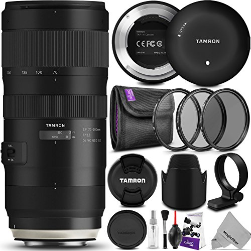 Tamron SP 70-200mm f/2.8 Di VC USD G2 Lens for CANON EF Cameras w/Tamron Tap-in Console and Essential Photo Bundle