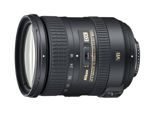 Nikon 18-200mm f/3.5-5.6G AF-S ED VR II Nikkor Telephoto Zoom Lens for Nikon DX-Format Digital SLR Cameras(New, White box)