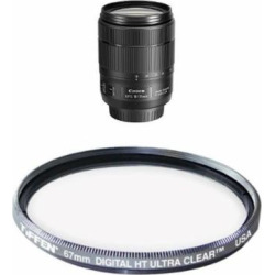 Canon EF-S 18-135mm f/3.5-5.6 Image Stabilization USM Lens (Black) Filter Bundle