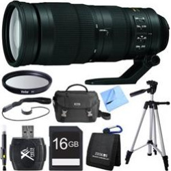 Nikon 200-500mm f/5.6E ED VR AF-S NIKKOR Zoom Lens for Digital SLR Cameras Bundle