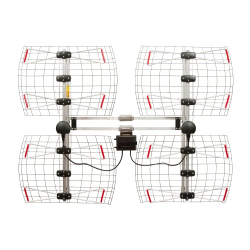 8 Element Bowtie Indoor/Outdoor HDTV Antenna – 70 Mile Range