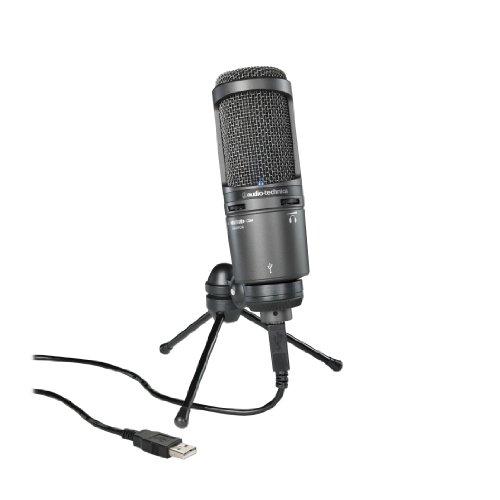 Audio-Technica AT2020USB+ Cardioid Condenser USB Microphone, Black