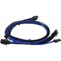 EVGA Black & Dark Blue 750-850 G2/P2/T2 Power Supply Cable Set, Individually Sleeved (100-G2-08KU-B9)