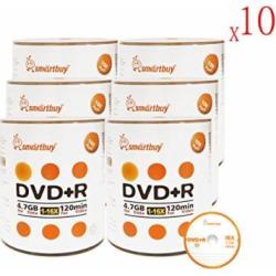 Smartbuy 4.7gb/120min 16x DVD+R Logo Top Blank Data Video Recordable Media Disc (6000-Disc)