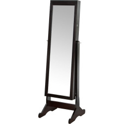 Richards Standing Jewelry Armoire & LED Light, Brown