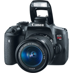 Canon EOS Rebel T6i EF-S Dslr Camera & 18-55mm IS STM Camera Lens Kit, Black