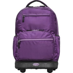 Olympia Melody 19-Inch Rolling Backpack, Purple