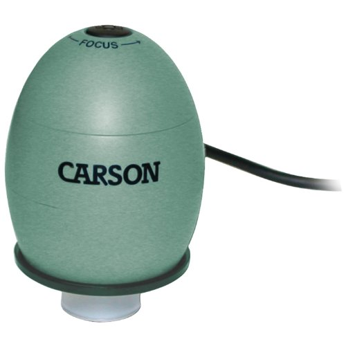 Carson zOrb USB Digital Computer Microscope with 53x Effective Magnification (Based on 21 inch Monitor), Safari Green