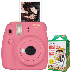 Fujifilm Instax Mini 9 Instant Camera Bundle, Light Pink