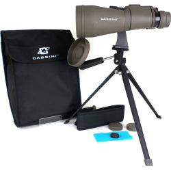 Cassini 10-30 x 60mm Zoom Binoculars with Case and Tripod, Grey