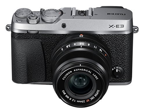 Fujifilm X-E3 Mirrorless Digital Camera w/XF23mmF2 R WR Kit – Silver