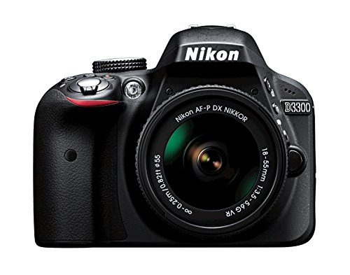 Nikon D3300 w/AF-P DX 18-55mm VR Digital SLR – Black