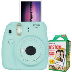 Fujifilm Instax Mini 9 Instant Camera Bundle, Light Blue